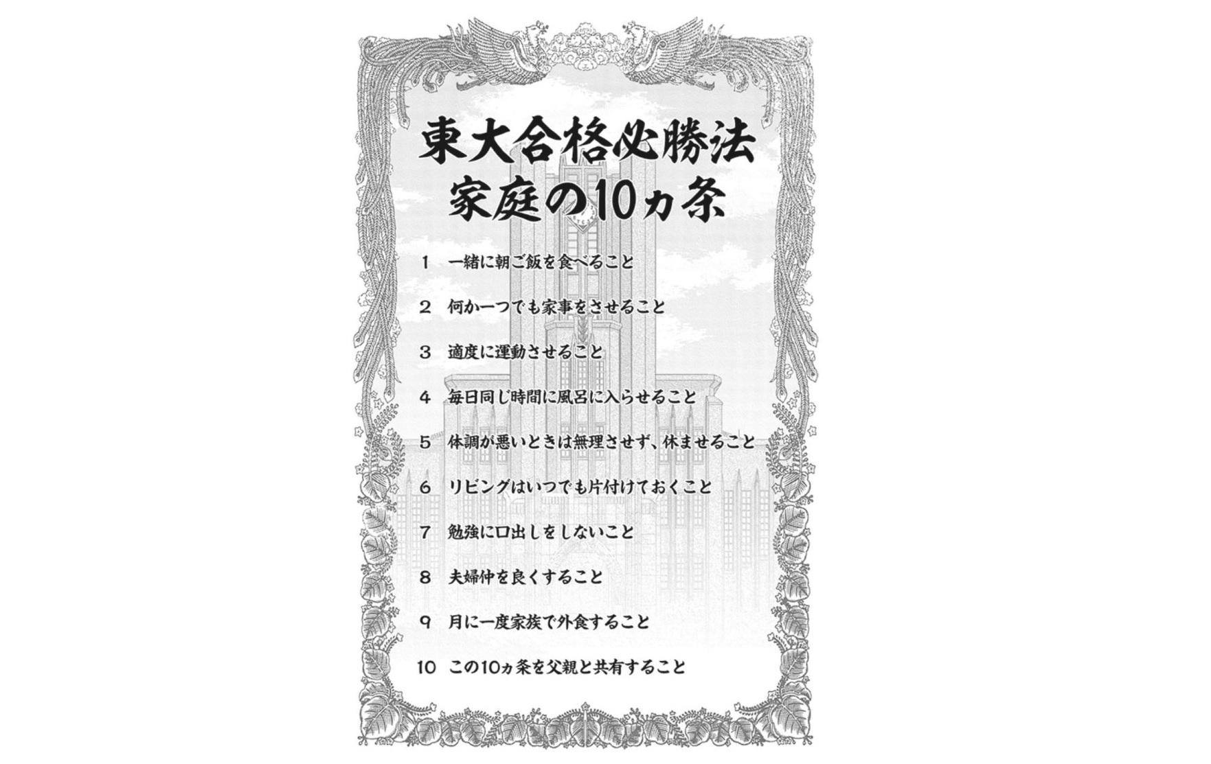 日曜劇場【ドラゴン桜2】4話のあらすじ!受験生の家庭の10カ条
